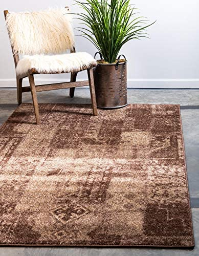 Unique Loom Autumn Collection Casual Solid Vintage Warm Toned Brown Area Rug 9 0 x 12 0