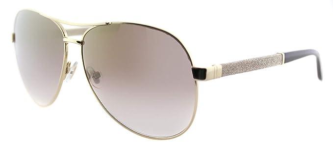 Amazon.com: Jimmy Choo Lexie Aviator anteojos de sol de la ...