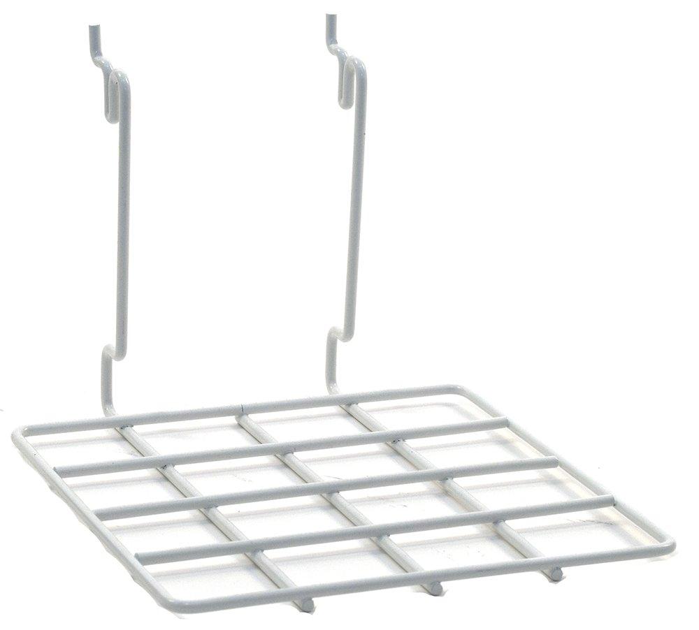 KC Store Fixtures A03071 Flat Shelf Fits Slatwall, Grid, Pegboard, 8'' W x 8'' D, White (Pack of 20)
