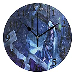 Personalized Non Ticking Silent Clock Art Living Room Kitchen Bedroom for Home Decor Night Love Wallpaper Round Acrylic Wall Clock