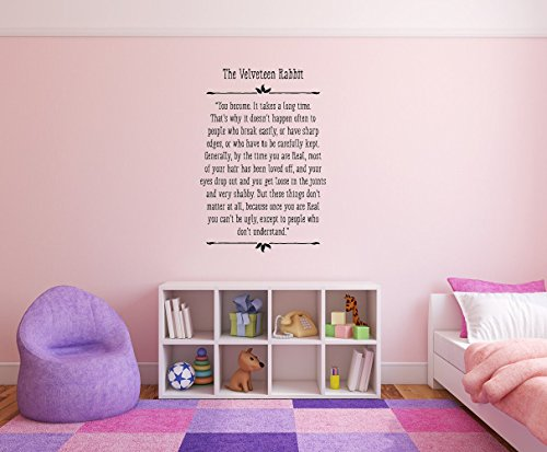 kdie The Velveteen Rabbit Removable Wall Decal Sticker DIY Art Décor for Home Nursery Kids' Girl's Room Decals