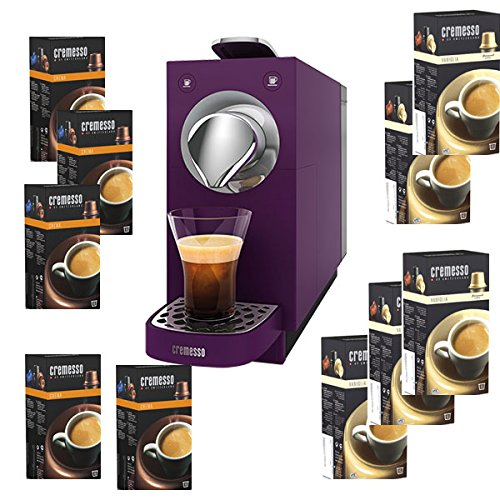 Cremesso una Automatic Cafetera de cápsulas, Velvet Purple + 80 ...