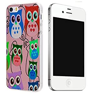New Hard TPU Printed Design Case for iPhone 5C - Multi Owl by ruishername