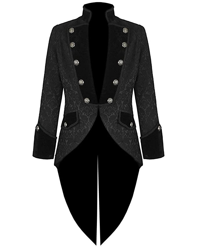 Men's Vintage Style Suits, Classic Suits Prime Quality Mens Steampunk Emo Tailcoat Jacket Velvet Gothic VTG Victorian/Tail Coat/USA Sizes $84.85 AT vintagedancer.com