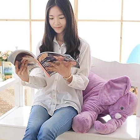 Beige MJTP Grande Peluche Elefante Giocattolo per Bambini Sacco a Pelo Cuscino Imbottito Bambola Elefante Baby Doll Regalo di Compleanno per Bambini