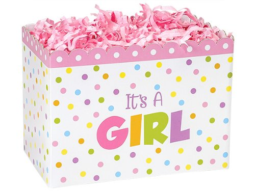 Large Baby Shower Its a Girl Gift BOX Decorative Base for Gift Baskets