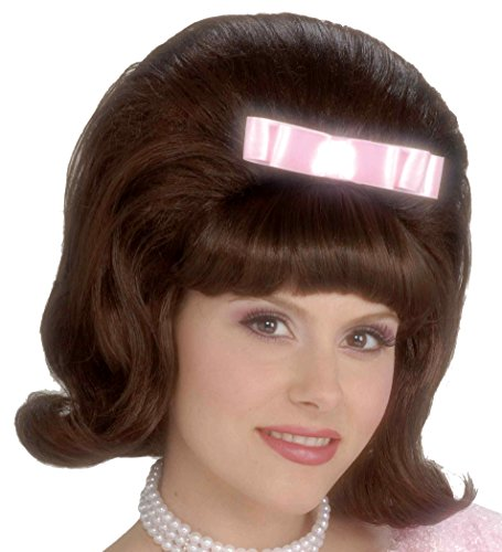 Forum Novelties Women's Flirting with The 50's Bouffant Costume Wig, Brown, One (60s Hairspray Costumes)