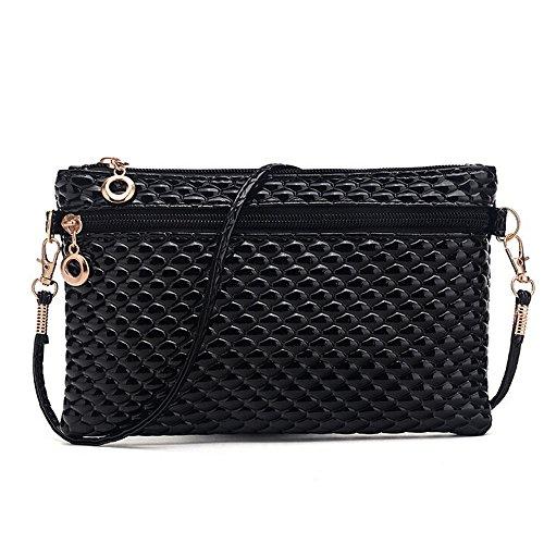Totes, Women Shoulder Bag Tote Messenger PU Leather Crossbody Satchel Handbag Wallets(Black) ()