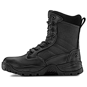 Maelstrom Tac Force 8'' Women's Black Waterproof Boots With Zipper – Military, Work & Tactical Boots – Athletic, Breathable, Durable, Comfortable & Lightweight Boots For Women, Size 5M
