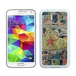 Samsung Galaxy S5 Cover Case,Wonder Woman logo 2 White Cool Customized Samsung Galaxy S5 I9600 Case