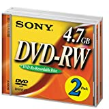 Sony DVD-RW 2X Rewriteable 4.7GB (2-Pack)