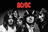 ACDC - Highway to Hell BW Poster Print (24 x 36)