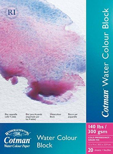 Winsor & Newton Cotman Water Colour Cold Press Paper Blocks, 9 by - Block Watercolor