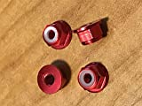 New 4MM Aluminum Red Locknuts Traxxas Slash Rustler Stampede XL5 VXL 4 Pack