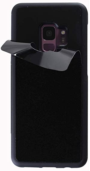 Anti Gravity Case for Galaxy S9 with Dust Proof Film, Magic Nano Hands Free Stick to Wall Anti-Gravity Case Black Anti Gravity Case for Galaxy S9