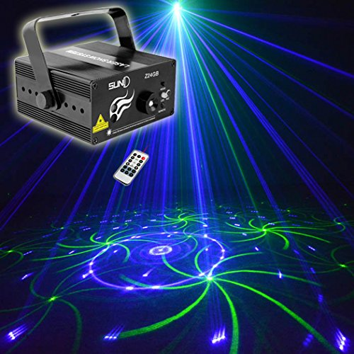 Party Lights Stage Light Christmas Laser Lights SUNY DJ Show Christmas Event Decor Holiday Blue Green Lighting LED GB Mixed Gobo Projector for Home Holiday Room Bar Pub Decoration
