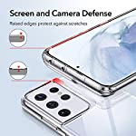 ESR Clear Case Compatible with Samsung Galaxy S21 Ultra 6.8 inch 2021, Slim Soft Flexible Transparent Polymer Back Cover…