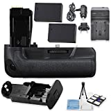 BG-E18 Replacement Battery Grip Bundle for Canon EOS Rebel T6i & T6s DSLR Cameras with 2 Replacement LP-E17 Batteries + AC/DC Multi Purpose Travel Charger + Camera Starter Kit from Eternal Photo