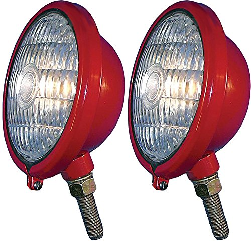 - 375855R91 Two 12V Red Front Lights for Case IH Farmall Cub ABC Super H M MTA 330