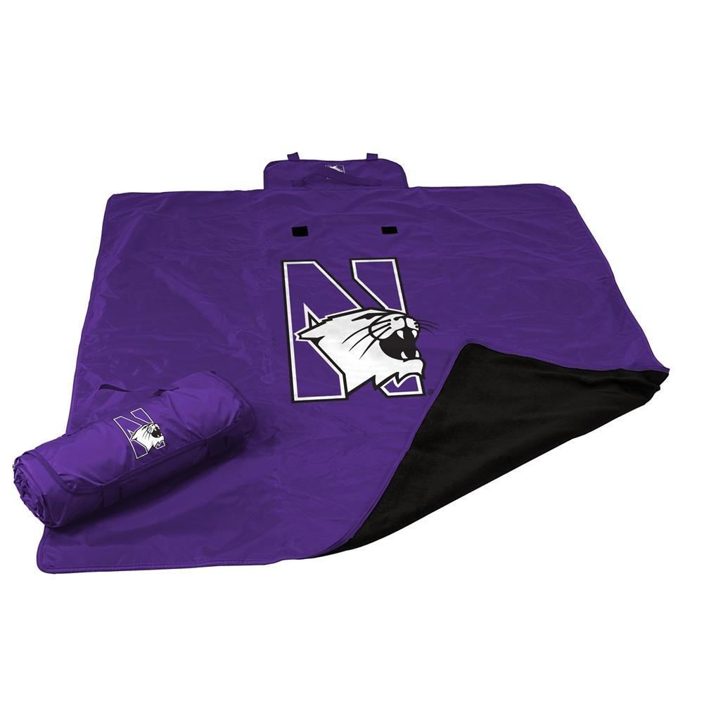 NCAA Northwestern All Weather Blanket, One Size, Multicolor