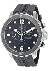 Tissot Men's T0664271705702 Seastar Analog Display Swiss Automatic Black Watch