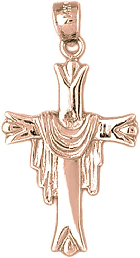 Christopher Necklace 14K Rose Gold-plated 925 Silver Saint Christopher Pendant with 18 Necklace Jewels Obsession St