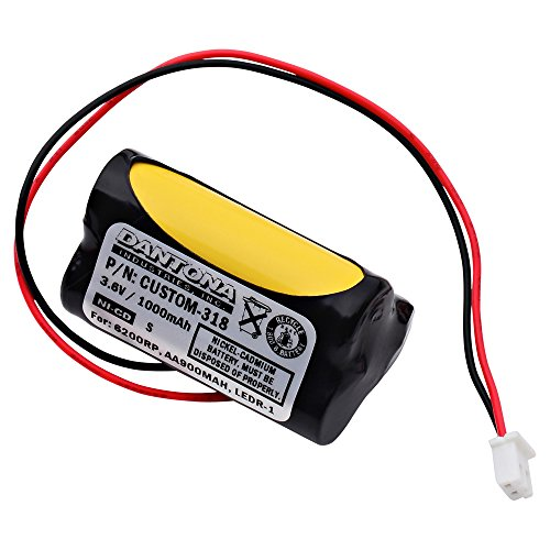 3.6v Emergency Lighting Battery - Emergency Lighting Replacement Battery Replaces Unitech - 6200RP, AA900MAH, LEDR-1