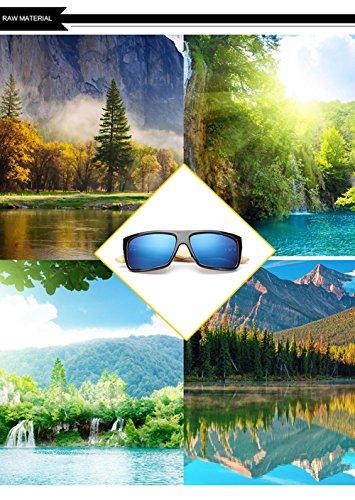 Los Protección para Hombres Aviador para Sol del Marco Personalidad F Mujer La Madera De Ultravioleta De Gafas A del De 400 w0aqAqS