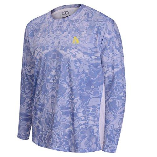 Koofin Performance Fishing Shirt Men UPF 50 UV Sun Protection Long Sleeve Quick Dry Mesh Cooling Rash Guard Kryptek Loose Fit
