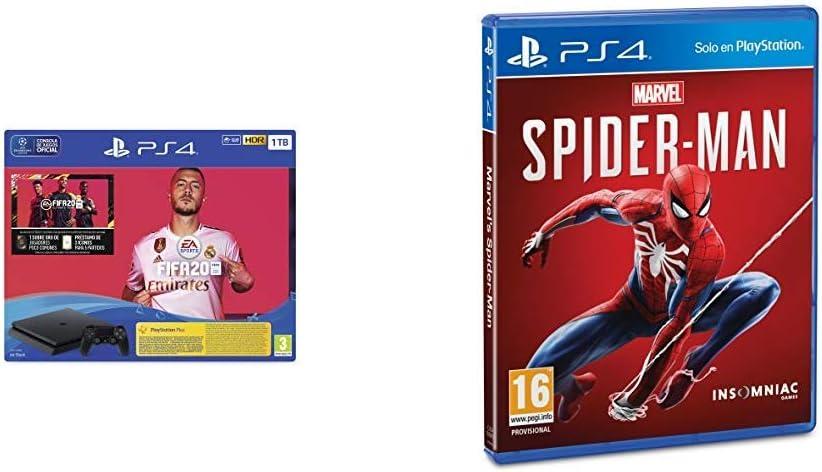 PlayStation 4 (PS4) Consola de 1TB + FIFA 20 + Marvels Spider-Man (PS4): Amazon.es: Videojuegos
