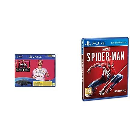 PlayStation 4 (PS4) Consola de 1TB + FIFA 20 + Marvels ...