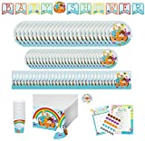 Noahs Ark Baby Shower Party Supplies: Paper Plates, Napkins, Cups, Tablecloth, Banner and Games Bundle for 24 Guests