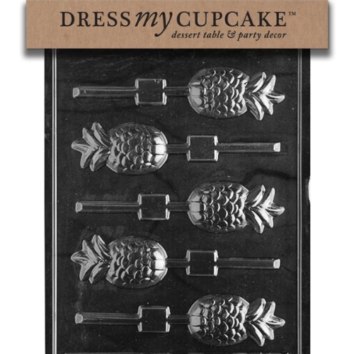 Dress My Cupcake DMCF002 Chocolate Candy Mold, Pineapple Lollipop