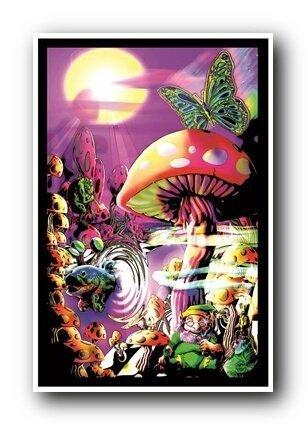 Magic Valley Blacklight Poster by Wall Posters (Mushroom Magic Blacklight Poster)