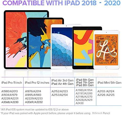 Lápiz capacitivo para iPad con rechazo de palma, (2018-2020) lápiz iPad con diseño magnético para Apple iPad, iPad (6/7 Gen)/iPad Pro (11/12.9 pulgadas)/iPad Mini Gen 5/iPad Air Gen 3 (blanco) 4