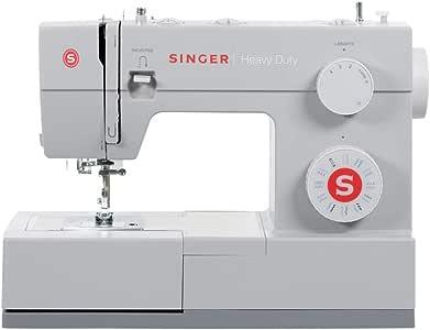 SINGER Heavy Duty - Máquina de coser (Gris, Máquina de coser automática, Costura, 1 paso, Variable, Variable): Amazon.es: Hogar