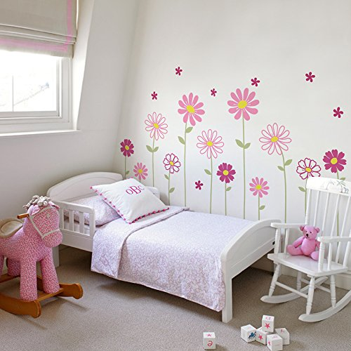 Daisy Flower Wall Decals (Scheme A) - by Simple Shapes