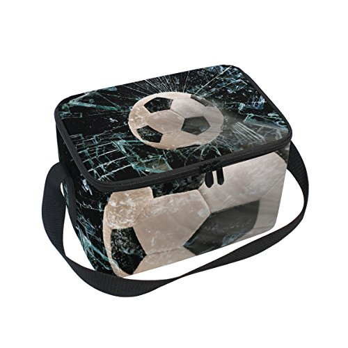 FORMRS Lunch Box Insulated Soccer Ball Through Glass Lunch Bag Large Cooler Tote Bag for Men, Women by FORMRS