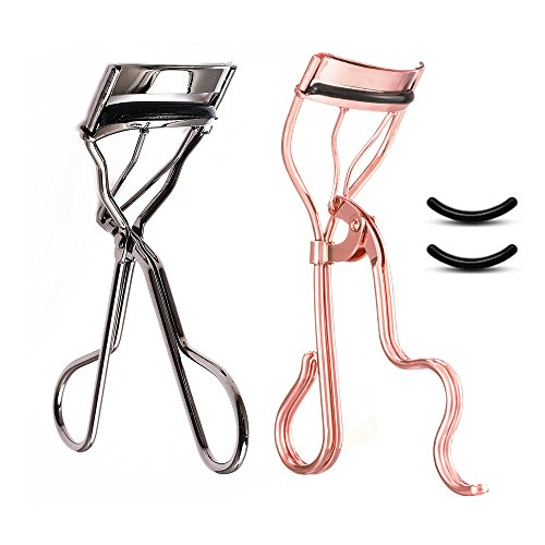 Professional Eyelash Curler by Homes Joy(2 Pack),Beauty Makeup Tools Set with Lashes Curler,Fits for Various Eye Lashes Shapes,2 Free Silicone Pads Included.