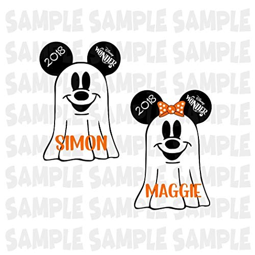 PERSONALIZED Disney Cruise Ghost Magnet. Halloween Ghost Minnie Mickey Head. Handmade Halloween Disney Cruise Magnet. -