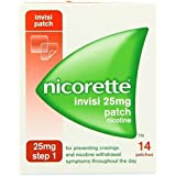 NICORETTE INVISI 25MG PATCH NICOTINE 14 PATCHES STEP 1 STOP QUIT SMOKING