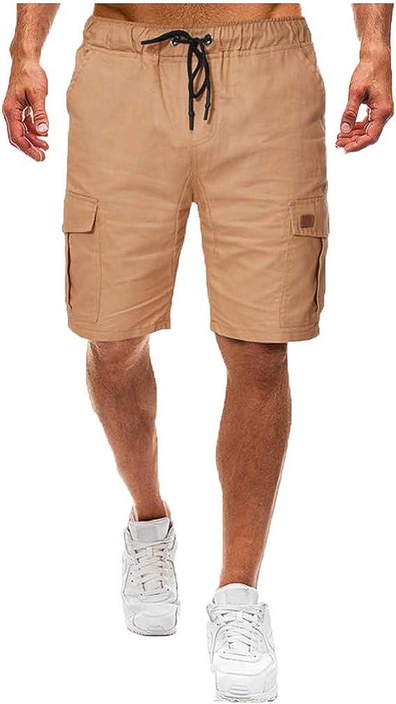 LILICAT Homme Shorts Cargo Pantacourt Coton