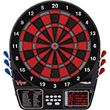 Viper 797 Electronic Dartboard, Black Silver And Red Segments, Quick Access To 301 And Countup From Button Interface, Extended Catch Ring For Missed Darts, 11 Square Inch Scoreboard Display, Includes Darts And Extra Tips, 43 Games And 241 Options