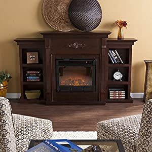 Amazon.com: SEI Tennyson Electric Fireplace with Bookcases