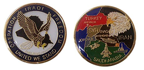 - Operation Iraqi Freedom United We Stand Collectible Challenge Coin/ Logo Poker /Lucky Chip