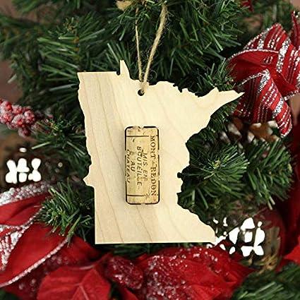 Amazoncom Wooden Shoe Llc Minnesota Wine Cork Christmas Tree