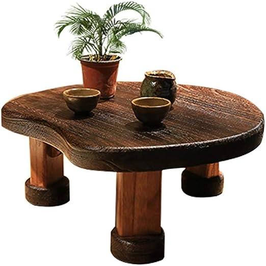 Mesa de madera pequeña HAIZHEN, ventana de bahía retro, forma de ...