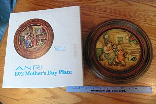 Anri Schmid Brothers Inc MOTHERS DAY WALL PLATE Alpine Mother 1972 wooden Italy