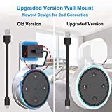 YIHUNION Outlet Wall Mount Stand Hangers Holder Bracket Case for Dot 2nd Generation, A Space-Saving Solution for Smart Home Speakers Without Messy Wires Screws(White)