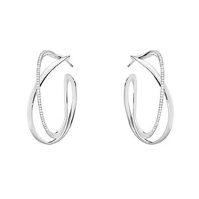 259a879bc Georg Jensen Sterling Silver Diamond Set Infinity Hoop Earrings 0.39ct:  Amazon.co.uk: Jewellery